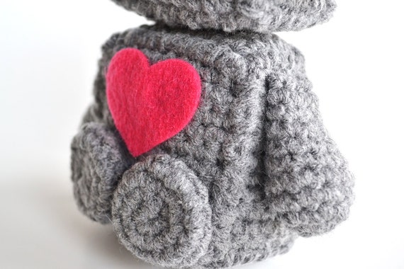 Amigurumi Robot Crochet Patterns : Amigurumi Romantic Robot - Crochet PDF Pattern from ...