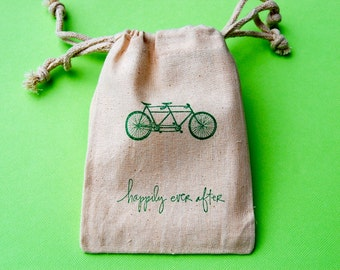 Muslin Bags / Tandem Bicycle / Happily Ever After / Set of 180