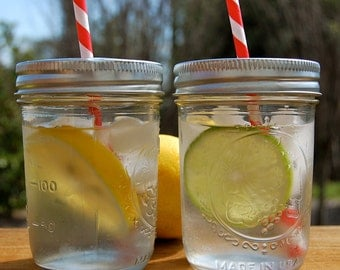 Mason jar Drink Lids / Ready for your Straw / Set of 25