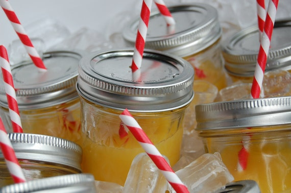 Mason Jar Drink LIDS/ Ready for your straw/ Set of 15