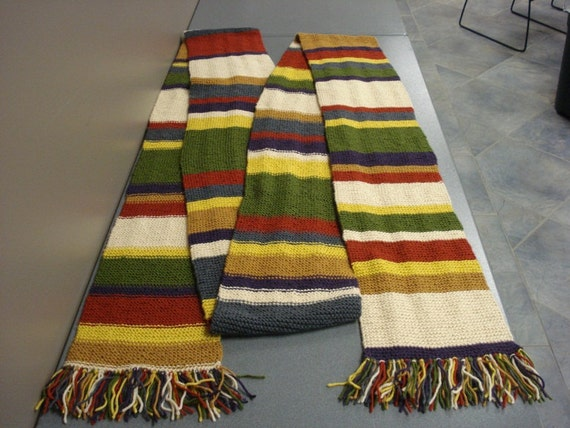 Tom Baker Scarf Knitting Pattern : Doctor Who Season 16 Scarf Tom Baker 20-plus feet