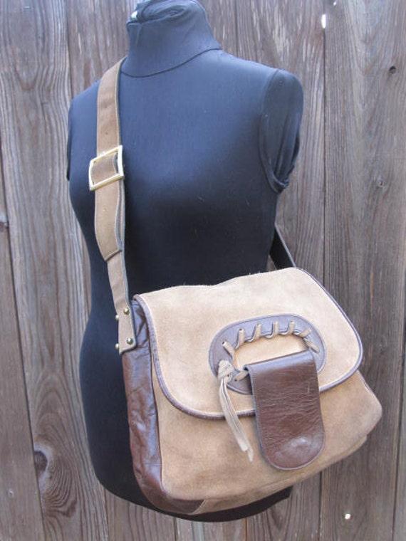 Vintage 70s Suede Shoulder Bag