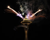 RESERVED listing for Helena John (16 x 20 photo of New Year's fireworks over the Space Needle, Seattle, Washington, USA)