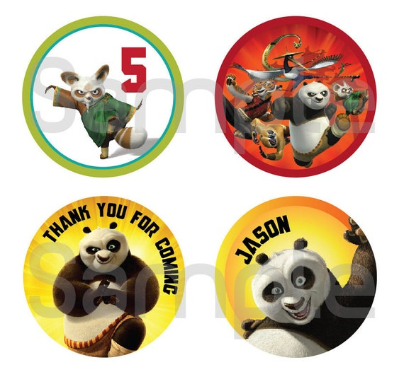 KungFu Panda Party Tags - Digital File