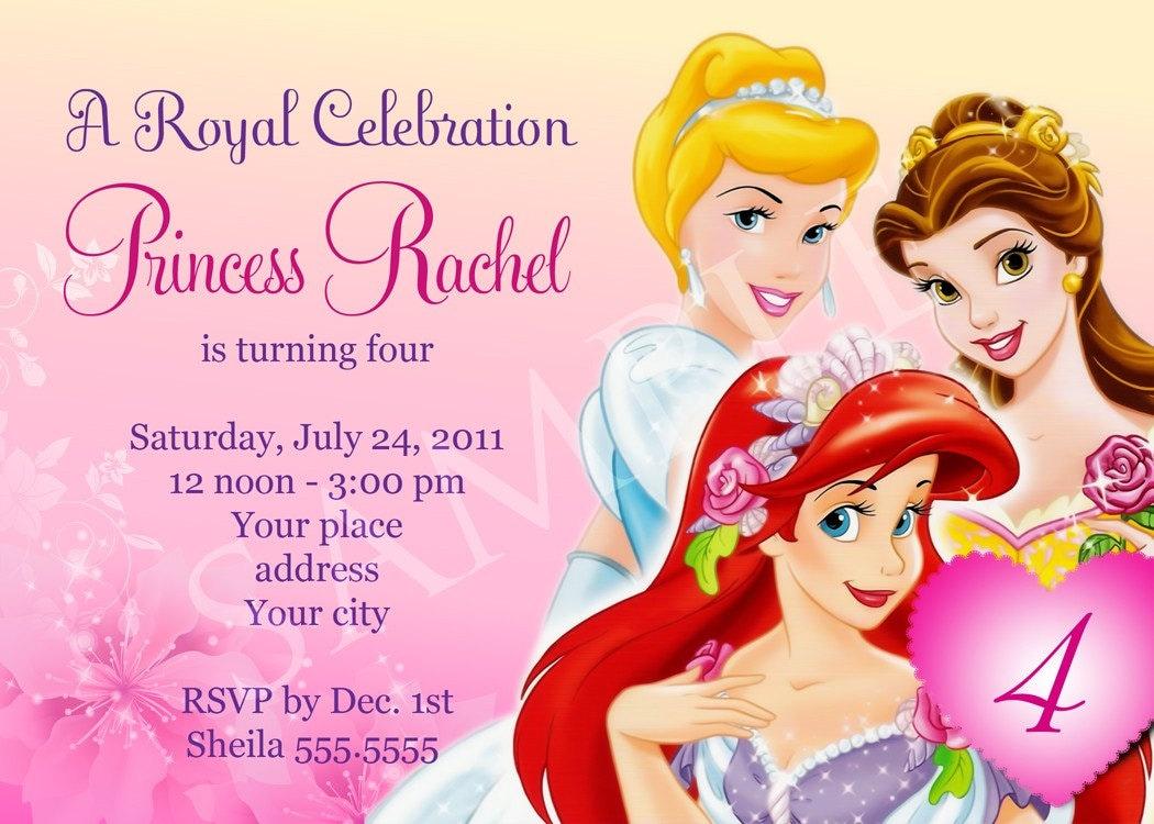 Princess Birthday Invitation Template – diabetesmang.info