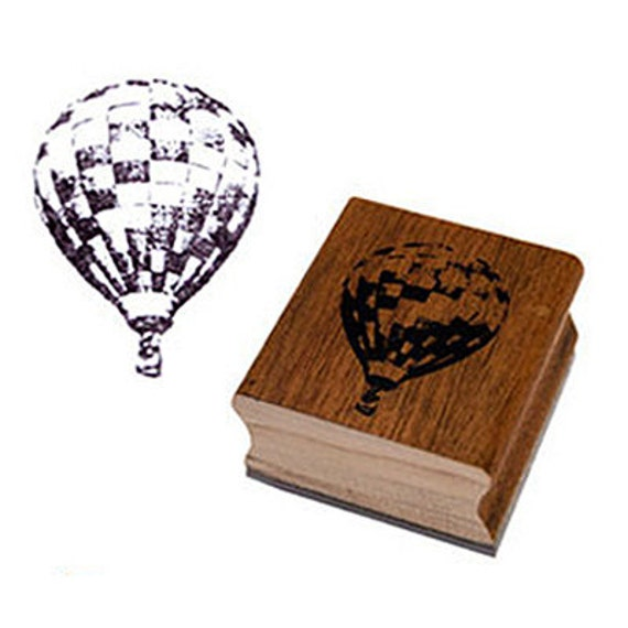 Hot-Air Balloon Wooden Stamp