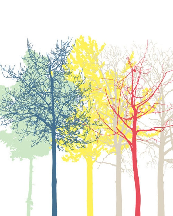 The Trees 3 - Art Print 8 x 10, wall decoration, sale buy 2 get 3