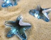 Swarovski Star Fish Pendant - 7 Pieces