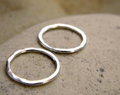 Sterling Silver Circle Connectors | Karma Circle Pendant | 15 mm