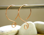 Copper | Silver | Gold Filled Circle Swirl Ear Wires - 1 Pair