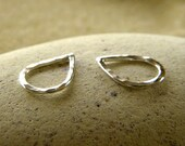 Petite Hammered Tear Drops | Silver | Gold Filled | Copper | Earring Drops  - 1 Pair