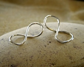 Petite Silver Infinity Link Connector Pendant  - 1 Pair