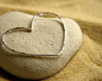 Big Love Heart Pendant in Sterling Silver