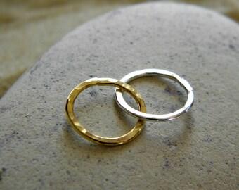 Gold Vermeil & Silver Linked Circle Connectors - 1 Set
