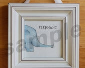 "ELEPHANT Baby Animal 7""x7"" Unframed Art Print for baby / infant nursery, or toddler or child's room"