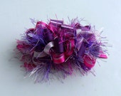 RESERVED Listing for shelze911: Purple and Pink Loopy Party Bow on a  French Barrette