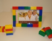 Lego inspired decoration for boy's bedroom, 4x6 picture frame, great for boy's birthday