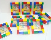 Kids birthday party favor MAGNETIC 3x5 picture frame set of (8) - Great for treat bags and teacher gifts, personalization available