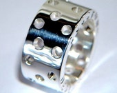 Handmade Chunky 925 Sterling Silver Ring Personalised Silver Band or Wedding Ring
