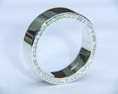 Ladies Handmade Wedding Ring 9k White Gold and F VS2 Diamond Channel Set  Wedding Band