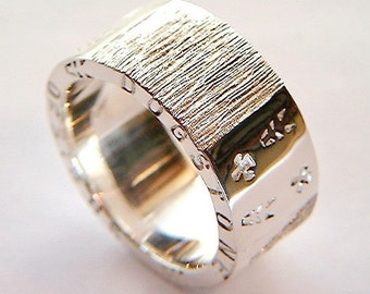 Handmade Silver Ring Chunky Silver Rings Design Personalised Jewelry