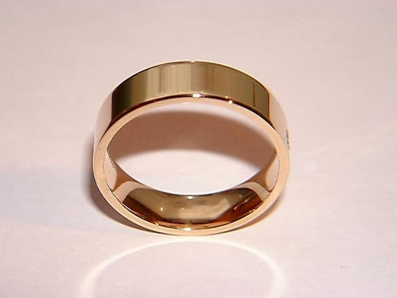 If The Ring Fits Asian Inspired Wedding: Items Similar To Wedding Ring Handmade Mens 9k Yellow Gold