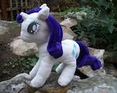 "12"" Rarity My Little Pony Plush Toy"