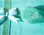 Teal. Sea Glass. Turquoise blue.  Frosted. Macro. OOAK. Nikon. Photo 10x15. Fine Art Photography.