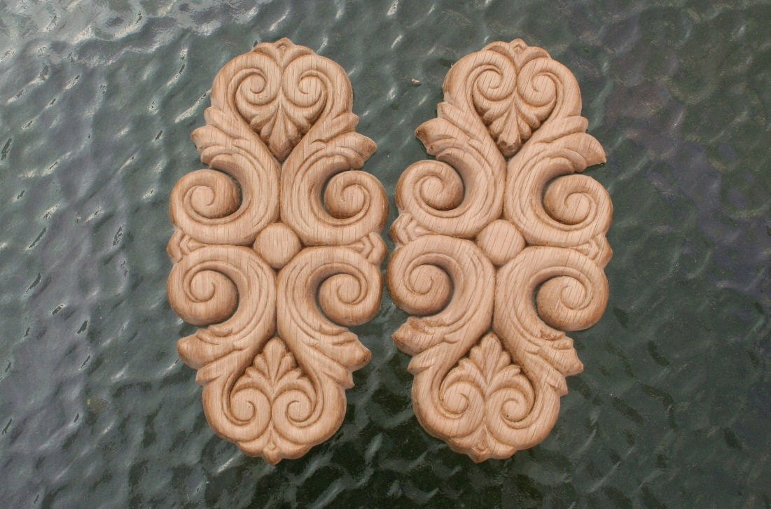 Decorative wood ornamental appliques by drdwoodcraftsupplies for Decorative wood onlays