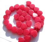 """Valentines Day, 8 Heart beads, 4 Pairs Colorful Jade Smooth Heart Beads, Green, Red, Lavender, Black, Turquoise - app. 1/2"""" sides (12mm)"""