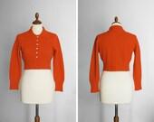 vintage tangerine tango cropped angora sweater