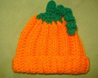 Pumpkin baby beanie hat 0-3 months