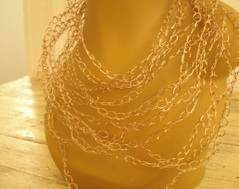 Chain gang statement necklace