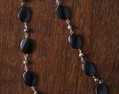 45) Phoenix Stone and Glass Tie-back Necklace--SALE