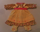 Handmade 20 Inch Raggedy Ann Doll Clothes Outfit Dress, Apron, Bloomers Watermelon Print