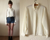 Cream Broderie Anglaise blouse