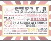 Printable Vintage Circus Inspired Baby Shower Invitations