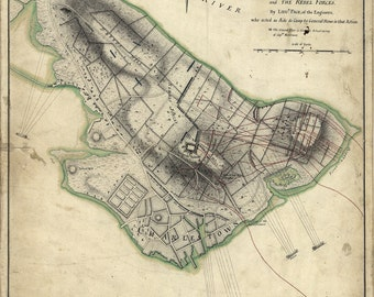 1775 Map of the Battle of Bunker Hill