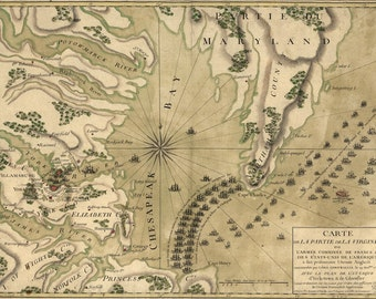 1781 Map of the Siege of Yorktown