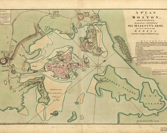 1775 Map of Boston