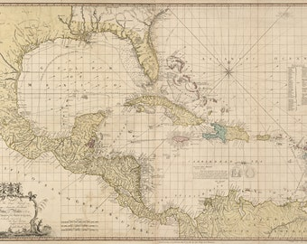 1774 Map of The Caribbean