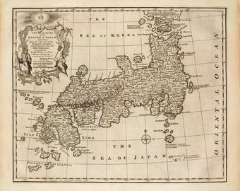 1747 Map of Japan