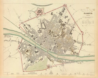 1835 Map of Florence