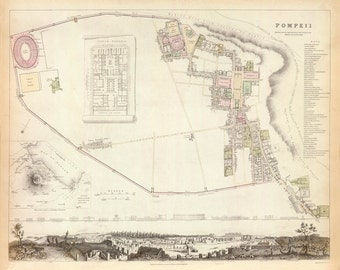 1832 Map of Pompeii
