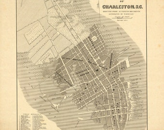 1844 Map of Charleston, S.C.