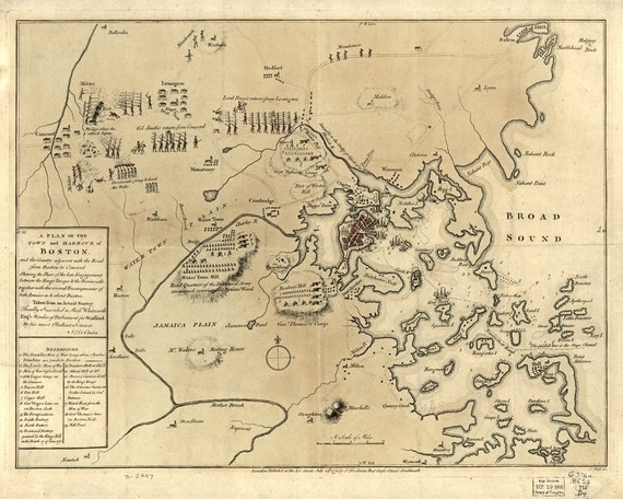 1775 Map of Boston Area