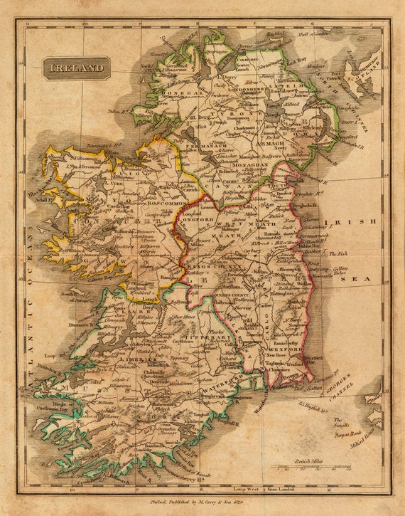 1820 Map of Ireland