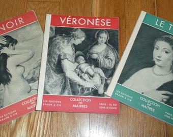 3 French Art Books 1949/50 Le Titien Veronese Renoir