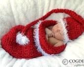 Baby Christmas Elf Hat AND Cocoon Set - Newborn