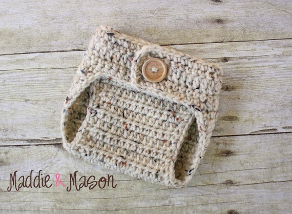 Oatmeal Diaper Cover - Newborn